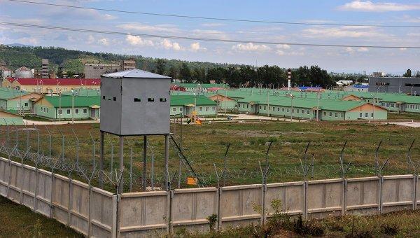 Вид 4-1 военной базы в Южной Осетии