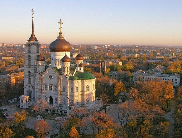 Вид Благовещенского собора в Воронеже