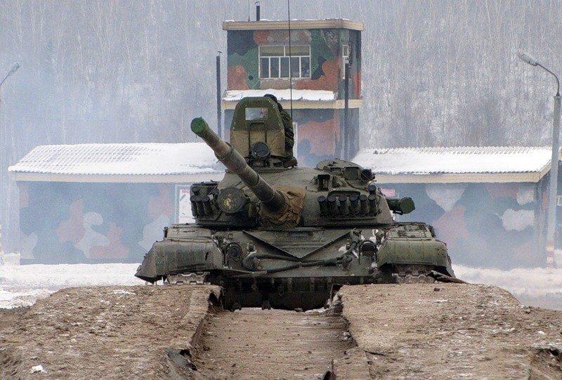 ВЧ 21250. На занятии по вождению танка