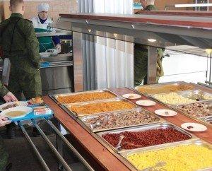 ВЧ 30362-3. Выбор блюд в столовой части