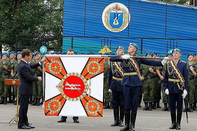 Фото ВЧ 32364. Вручение 11-й ОГДШБр Почётного знамени Президентом РФ