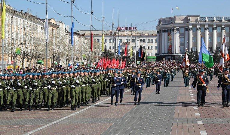 Фото ВЧ 32364. 11-я бригада на параде в честь Дня Победы