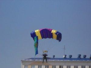 Фото ВЧ 54801. Флаг ВДВ