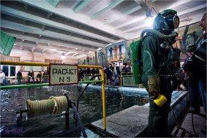 Фото ВЧ 73420. Подготовка водолазов в 187-м МРУЦ