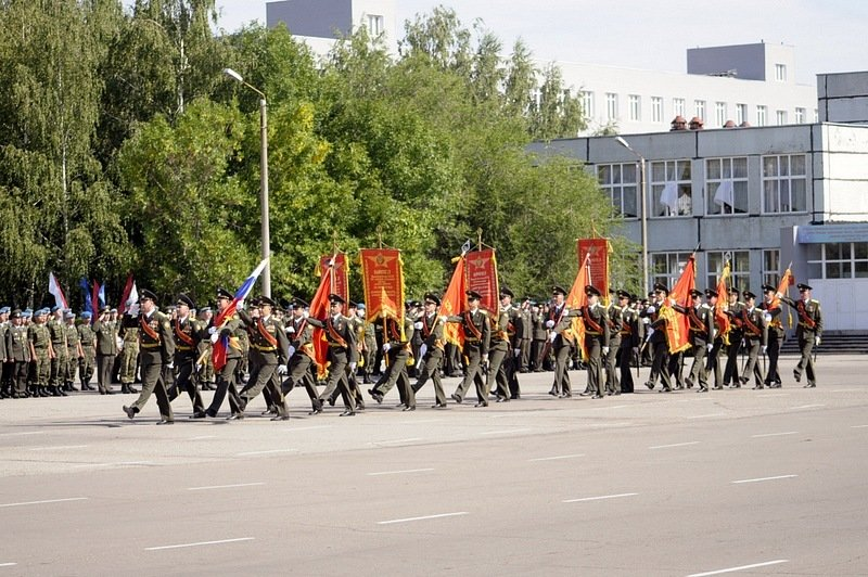 ВЧ 73612. Знамя 31-й бригады на присяге новобранцев