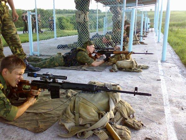ВЧ 21208. Военнослужащие части обеспечивают стрельбы военно-патриотического клуба