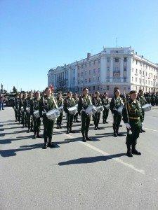 ВЧ 54046. Бригада на параде Победы в Нижнем Новгороде
