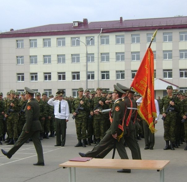 ВЧ 65349. Вынесение знамени бригады