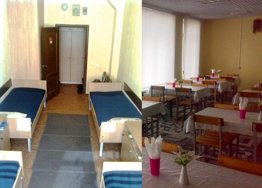 ВЧ 65349. Комната в кубрике и солдатская чайная