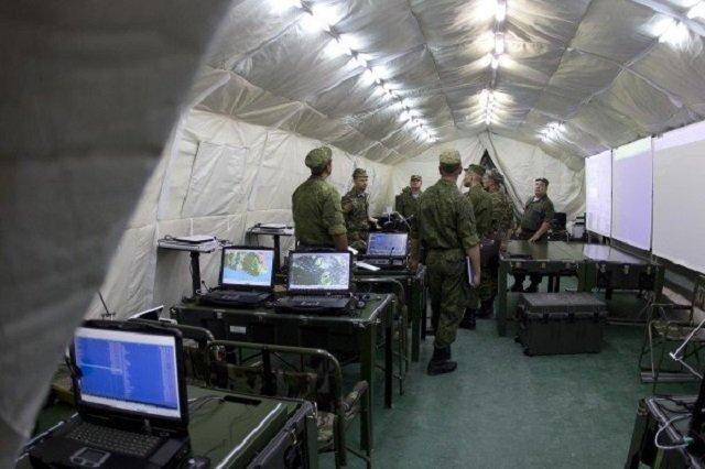 Войсковая часть во время проверки