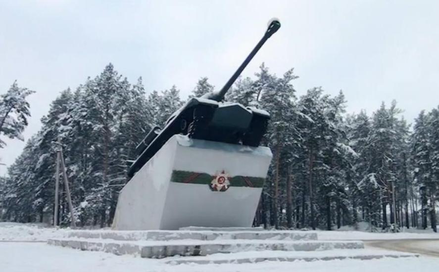 ВЧ 30616-7. Памятник танку