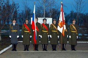 ВЧ 01957. Государственный флаг и знамя 175-й бригады управления