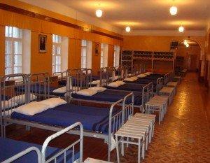 ВЧ 30616-8. Спальное расположение призывников полка