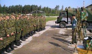 ВЧ 43556. Солдаты части на занятиях