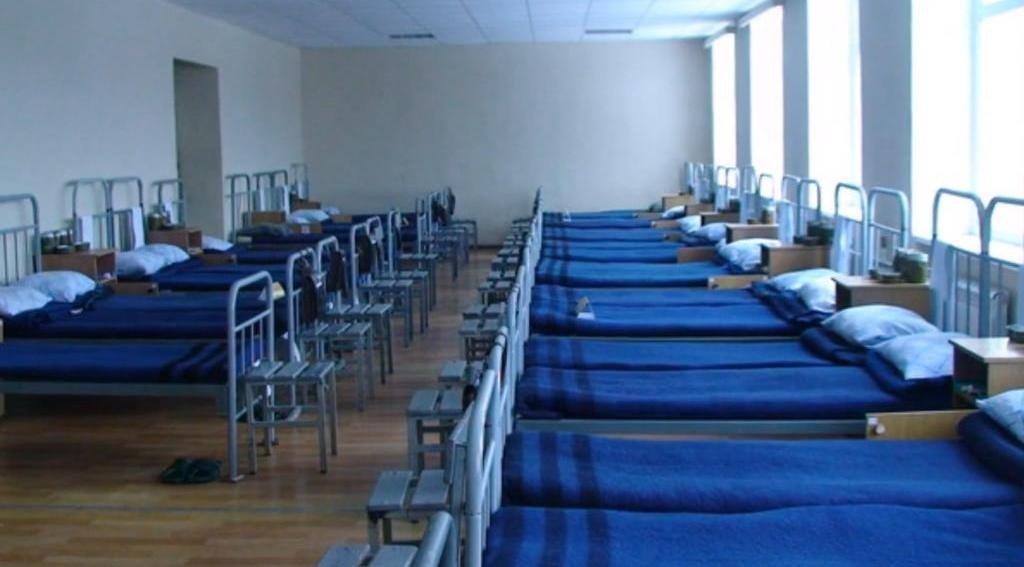 ВЧ 43556. Спальное расположение призывников в казарме