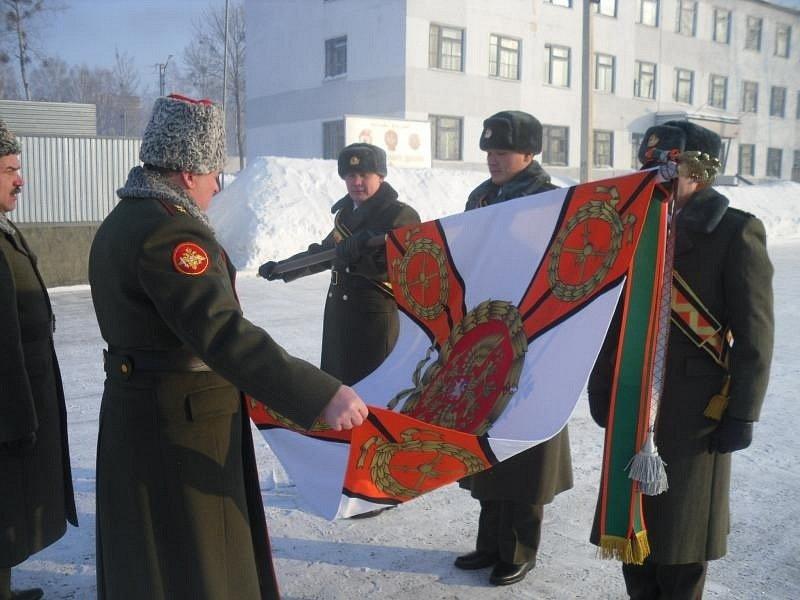 ВЧ 46102. Церемония вручения знамени бригаде