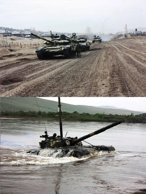 ВЧ 46108. На занятиях по управлению танком