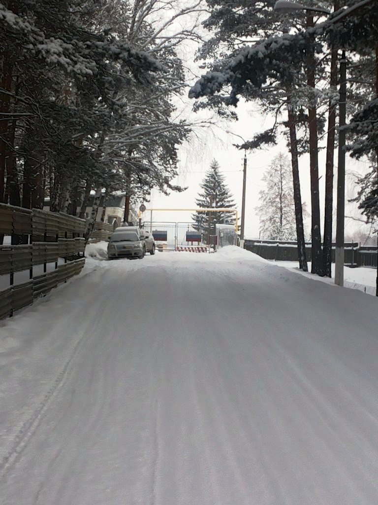 ВЧ 71599. Дорога на КПП части