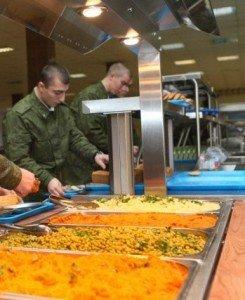 ВЧ 83497. Организация приема пищи в части