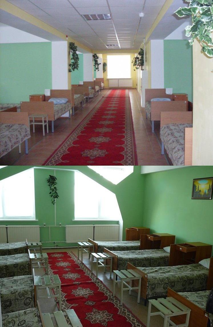 ВЧ 24024. Общий вид казармы и одна из комнат