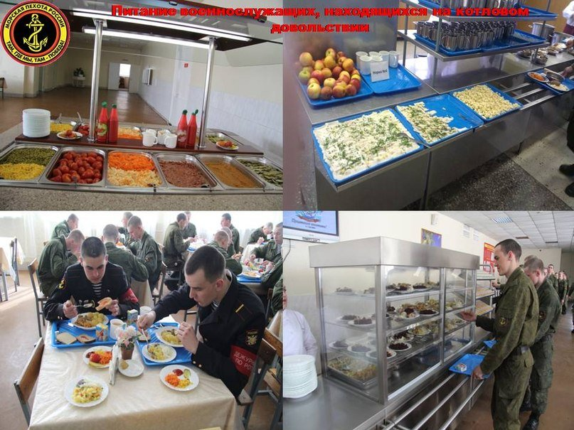 ВЧ38643. Организация питания солдат