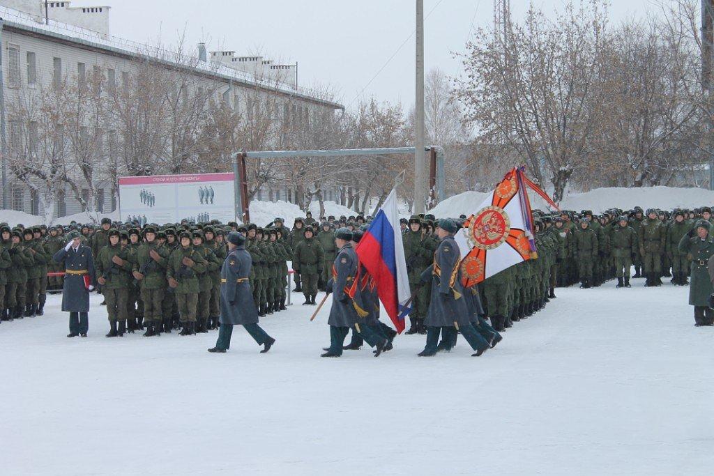 ВЧ 41659. Церемония выноса знамени бригады