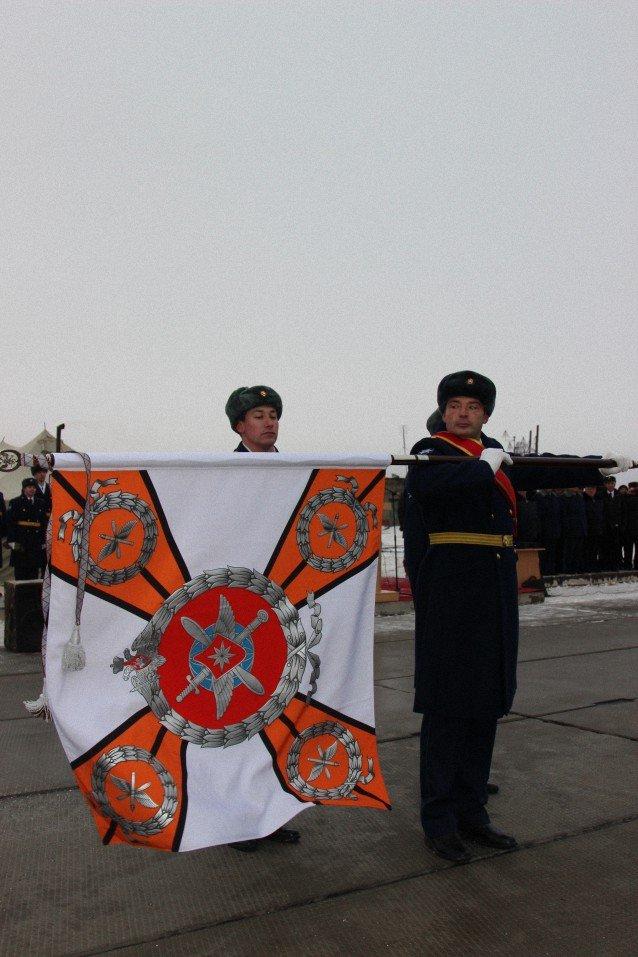 ВЧ 45097. Вручение боевого знамени нового образца войсковой части 45097