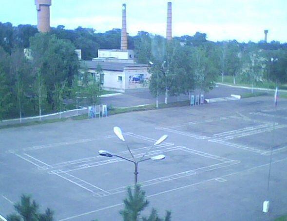 ВЧ 53790. Вид на строевой плац воинской части