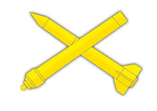 ВЧ 55584. Знак различия зенитных ракетных войск