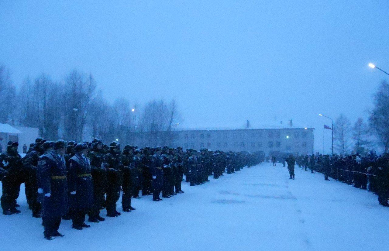ВЧ 72154. Построение солдат бригады на плацу