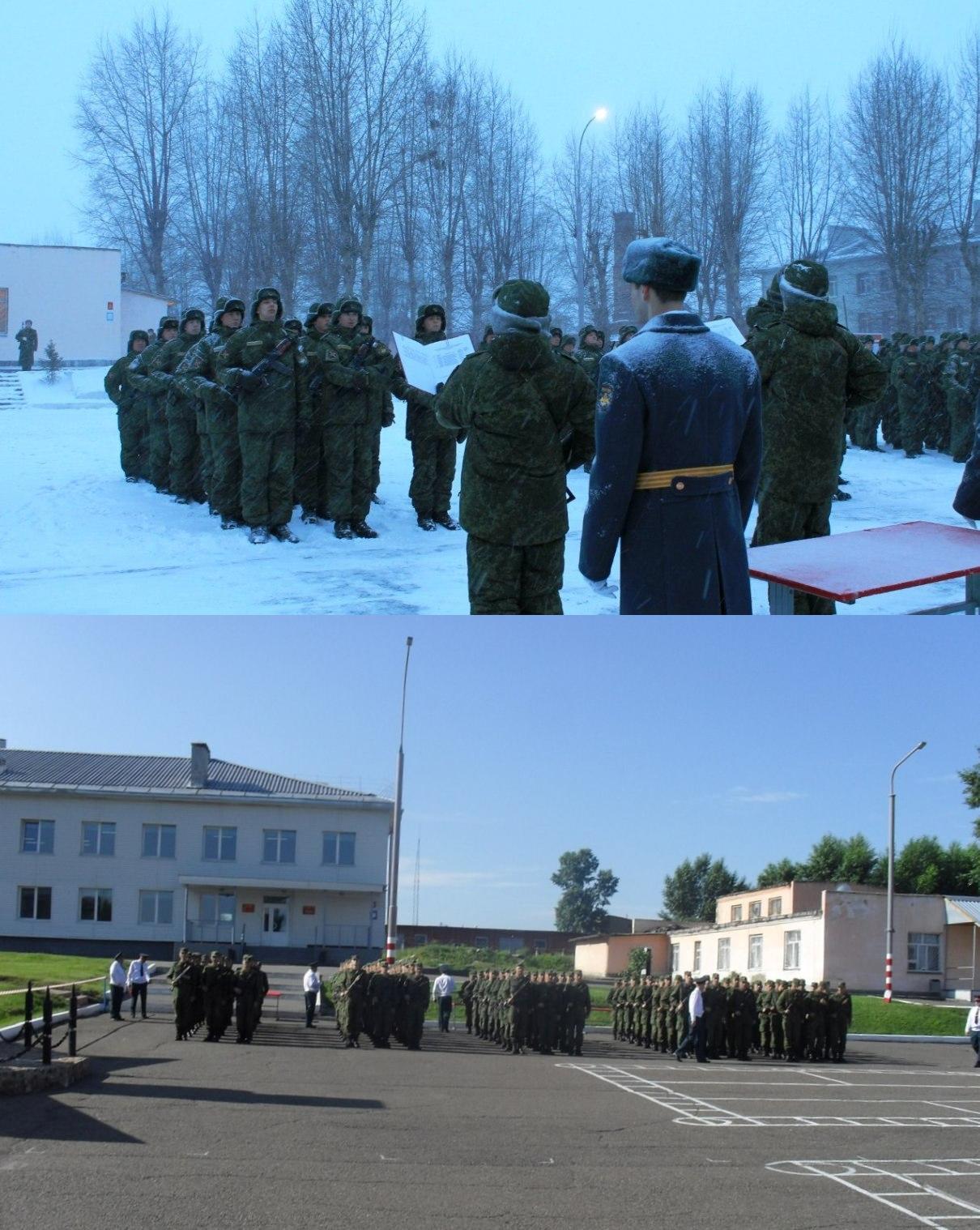 ВЧ 72154. Приведение к военной присяге (в зимнее и летнее время)