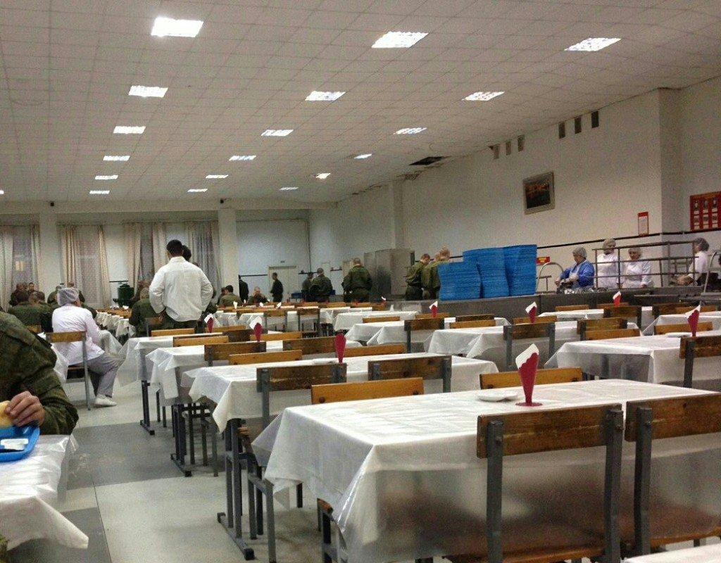 ВЧ 74268. Организация питания в полку