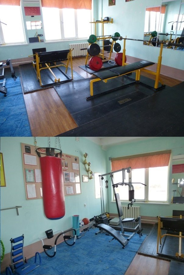 ВЧ31612. В спортивной комнате