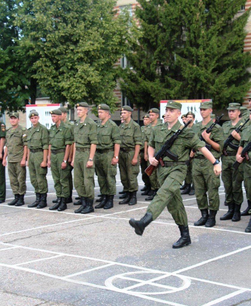 ВЧ33246. Новобранцы воинской части на присяге