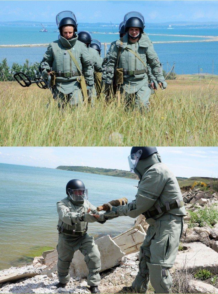 ВЧ33246. Осуществление гуманитарного разминирования при строительстве Керченского моста