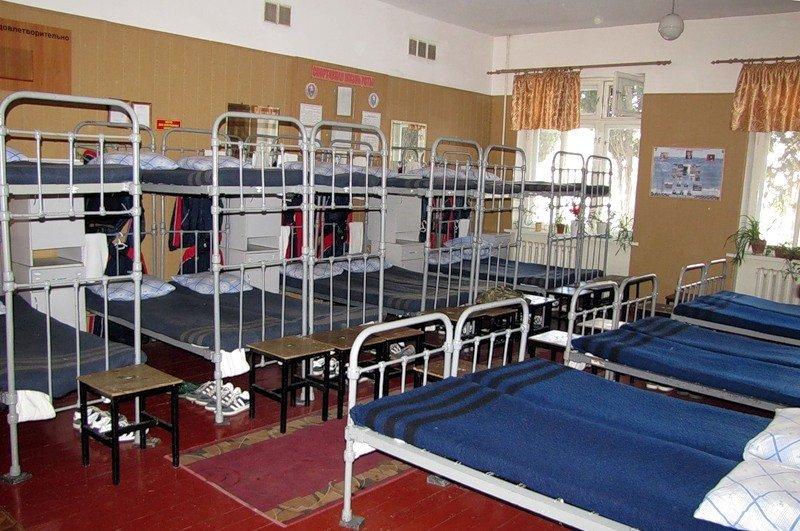 ВЧ 13140. Спальное расположение бойцов бригады