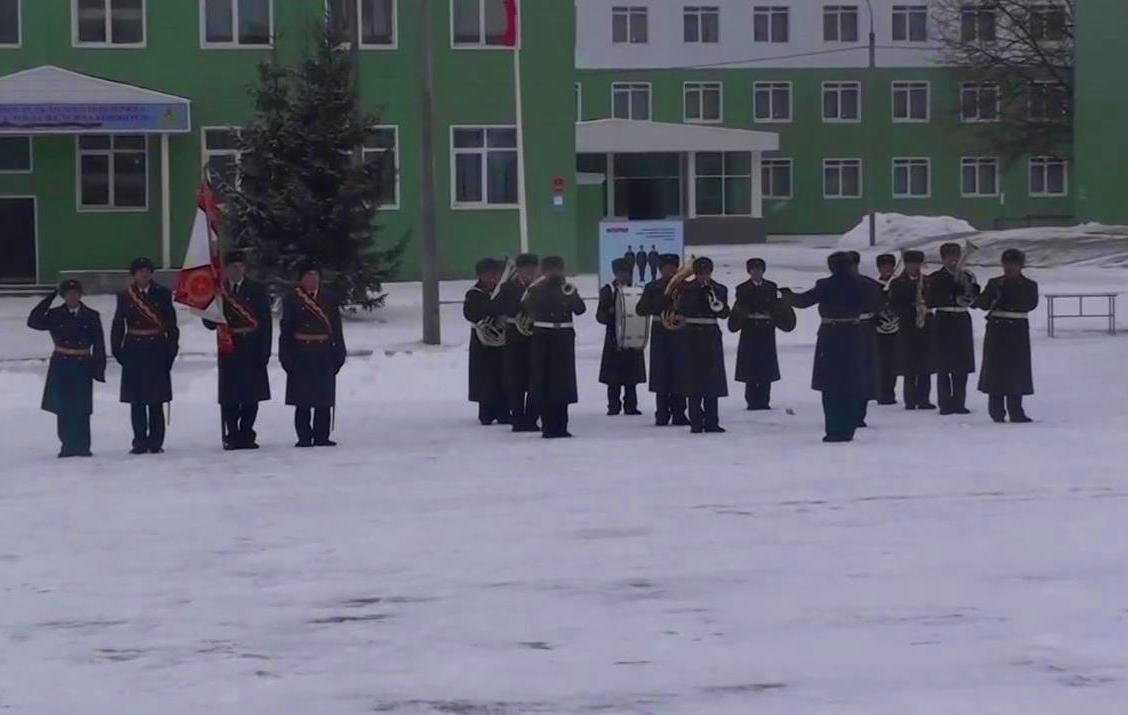 ВЧ 31135. Исполнение гимна РФ оркестром части