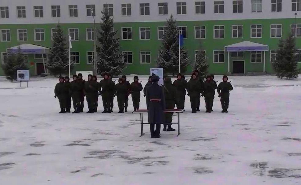 ВЧ 31135. Приведение новобранцев к воинской присяге