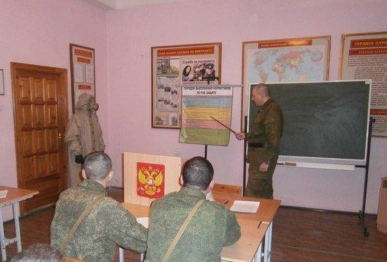 ВЧ 31643. Солдаты части на занятиях