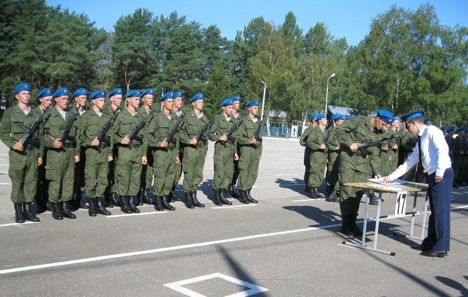 ВЧ 32515. На церемонии принятия присяги в полку