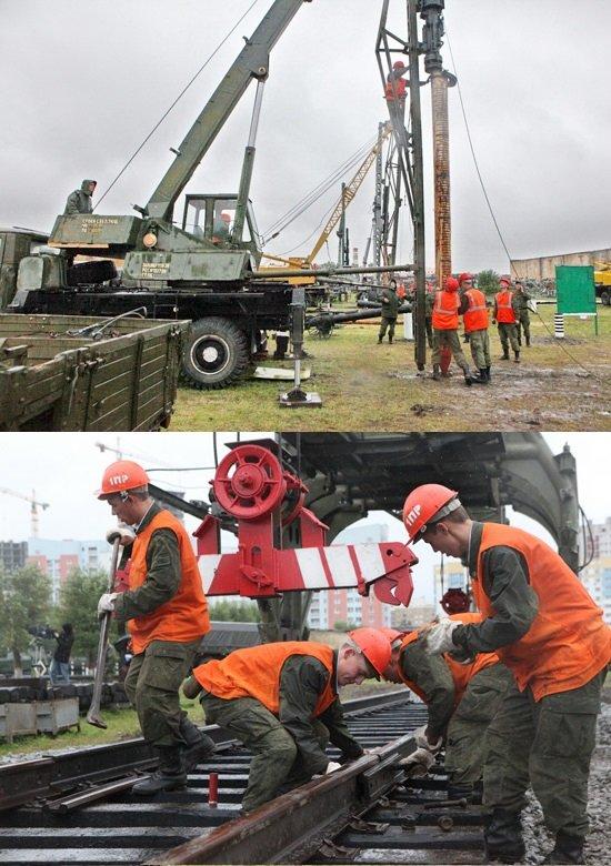 ВЧ 61207. Конкурс специалистов железнодорожных войск в Екатеринбурге
