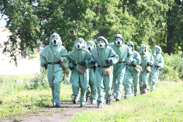 ВЧ 61207. Солдаты части на занятиях