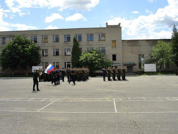 ВЧ 92574. Вид на строевой плац полка