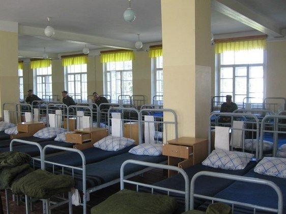ВЧ02561. Спальное расположение солдат в/ч