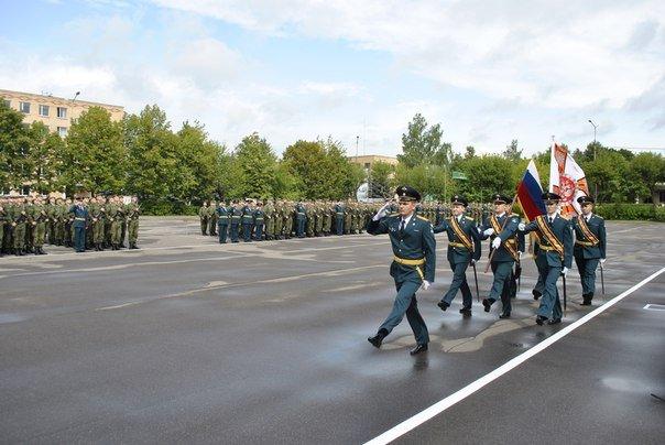 ВЧ11300. Церемония выноса знамени части