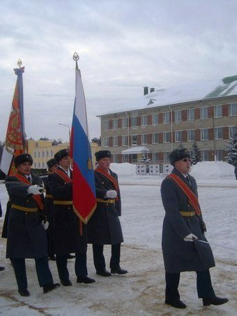 ВЧ19889. Фото боевого знамени центра