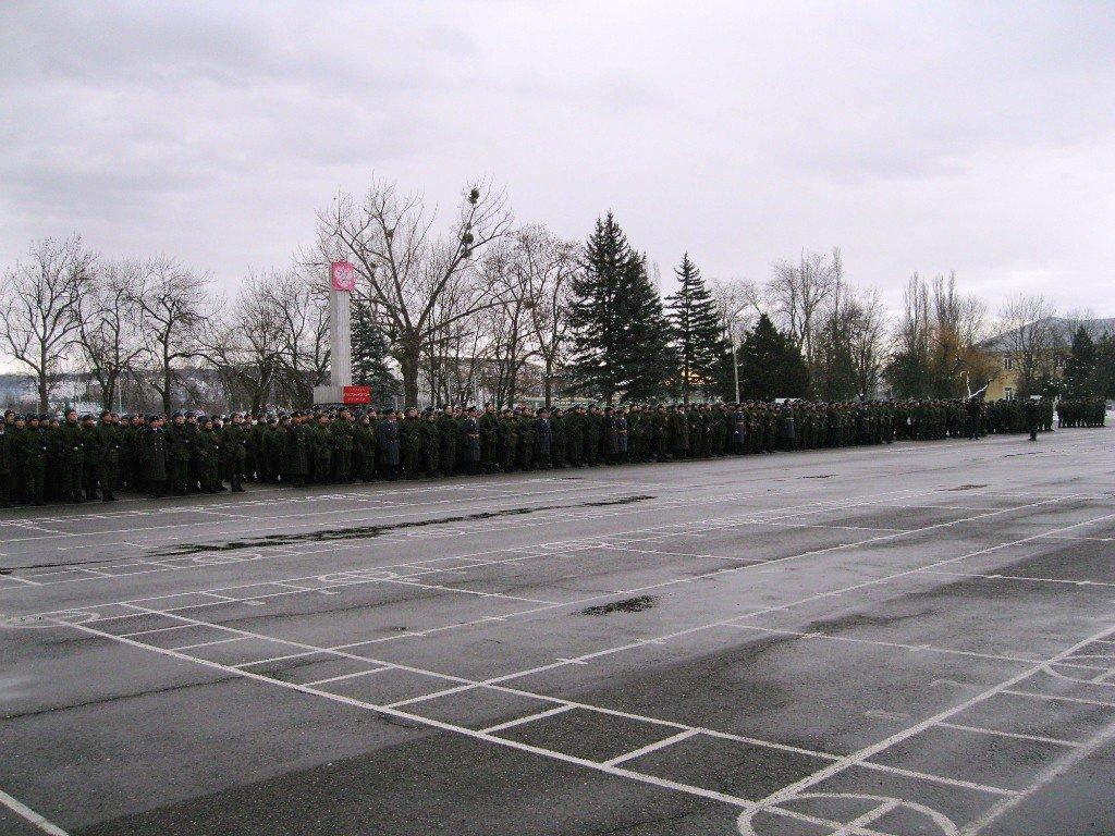 ВЧ22179. Построение на плацу подразделения в г. Майкоп