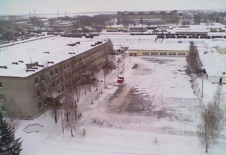ВЧ 01855. Вид на строевой плац
