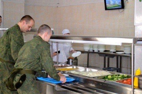 ВЧ 01855. Организация питания в столовой части