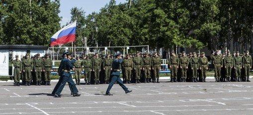 ВЧ 35390. Вынос государственного флага РФ